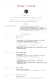 Truck Driver Resume Example by Camionneur Exemple De Cv Base De Données Des Cv De Visualcv