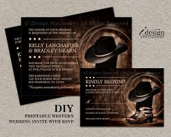 western wedding invitations country western wedding invitation set with cowboy boots diy