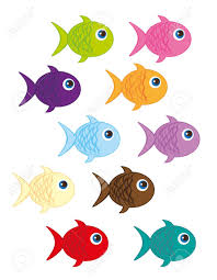 cute fish cartoon isolated over white background vector royalty