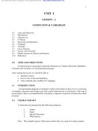 C Programmer Resume Bsc Comdata Control Flow C Programming Language