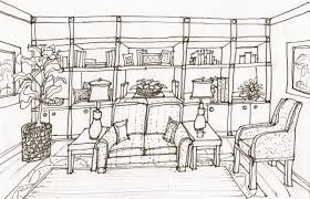 Interior Decoration Sketches Sketches Studio Bel Air New Construction Great Room Pencil Sketch