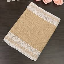 lace table runners wholesale wholesale 30 5 176cm natural jute burlap lace table runner cloth