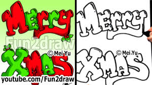 how to draw graffiti letters merry with
