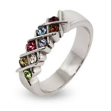 mothers ring sterling silver custom 8 birthstone s ring