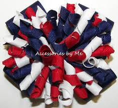 white and blue bows hair bows patriotic korkers white navy blue hair bow