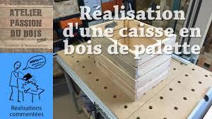 Table En Caisse En Bois Réalisation D U0027une Caisse En Bois De Palette Making A Pallet Wood