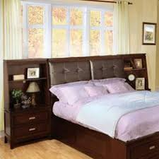 features available in queen and king sizes bookcase headboard