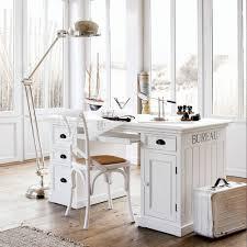 bureau newport maison du monde bureau 1 porte 4 tiroirs blanc maisons du monde