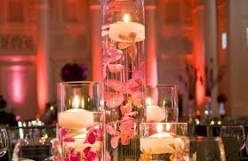 Vases With Flowers And Floating Candles Modern Decor Ideas Stunning Receptions Weddbook