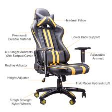 co z ergonomic pc computer gaming racing chair with high back