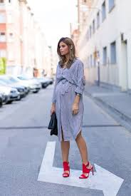 maternity style cool and casual maternity style with stripes