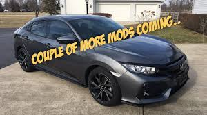 honda civic modified white more mods for my 2017 honda civic hatchback youtube