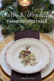 warm and wonderful thanksgiving table with figs artichokes