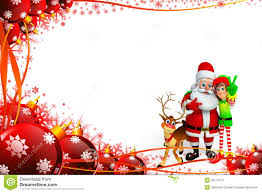 reindeer elf and santa