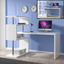 computer desk with shelves white high gloss computer desks uk furniture in fashion