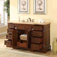 amazon com silkroad exclusive bathroom vanity travertine top