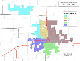 Illinois Map Of Cities by City Map U0026 Wards City Of Macomb Illinois