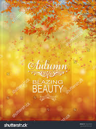 fall background bokeh background warm autumn stock vector