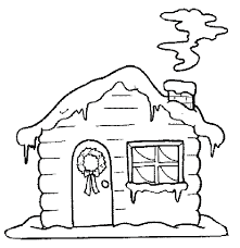 winter house coloring merry christmas coloring pages kids