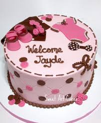 pink and brown baby shower chattanooga cleveland dayton wedding birthday cakes
