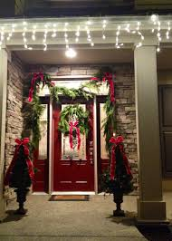 decorations sweet red front door paint with flower wreath