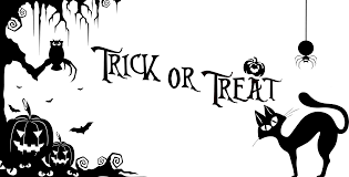 clipart trick or treat halloween silhouette
