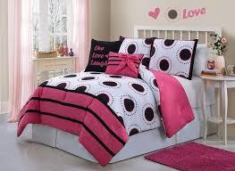Kids Bedding Sets For Girls by Girls Kids Bedding Amy Comforter Set Black White Fuchsia