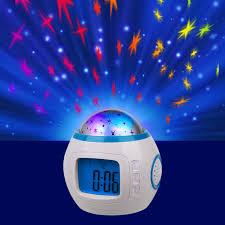 light projection alarm clock starry sky night light projection music digital alarm clock