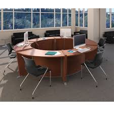 Ada Reception Desk Ofm Marque Ada Desk Circular Workstation Package Marque3 Ships Free