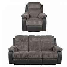recliner sofas uk bradley recliner large sofa and chair charcoal furnico village