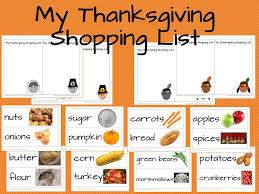 thanksgiving shopping list thanksgiving shopping list and