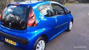 peugeot blue peugeot 107 active blue 2014 youtube