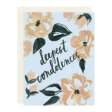 condolences cards deepest condolences card buttons gift and paper boutique