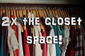 life hack 2 how to double your closet space for free youtube