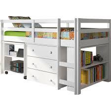 viv rae zechariah twin low loft bed with storage u0026 reviews wayfair