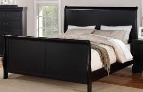 black sleigh bedroom set louis phillipe black queen size bedroom set featuring french style