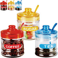 28 circleware kitchen canister set 3pc glass jar set new circleware kitchen canister set 3pc glass jar set 3pc retro tea coffee sugar kitchen glass jar