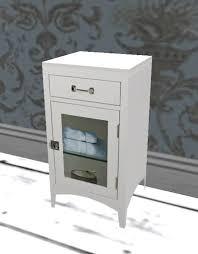 Vintage Bathroom Cabinet Second Life Marketplace Albion Vintage White Bathroom Cabinet