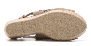 latest minnetonka moccasin amy fringe wedge sandal in taupe