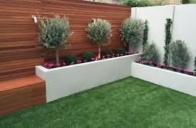 modern garden design low maintenance scheme fake grass easi easy