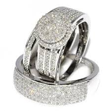 white gold wedding sets engagement ring sets his and hers inner voice designs