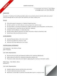 My Objective In Resume Sample Resume For Call Center Agent With Experience