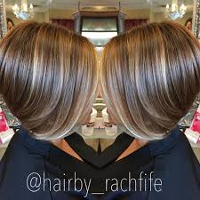 short bob haircut with subtle balayage highlights hair by rachel