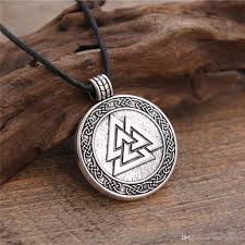 rope necklace designs images Wholesale new design alloy valknut viking pendant necklace rope jpg