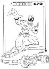 coloring pages of power rangers spd spd with his vehicle coloring page free printable coloring pages