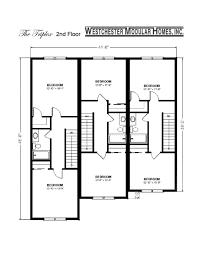 Multi Family House Plans Triplex Triplex Fuller Modular Homes
