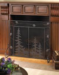 wholesale black scrollwork wrought iron fireplace screen cheap