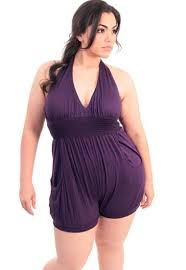 jumpsuit shorts plus size jumpsuit shorts purple halter plussizefix