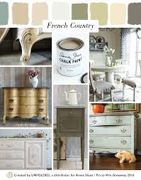 french country style moodboard left top old white chalk paint
