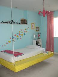How To Make A Hanging Bed Frame Blue Wall Paint With How To Make A Hanging Bed Using Yellow Color